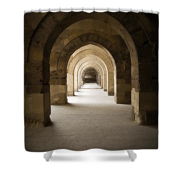 Arched Colonade Shower Curtain