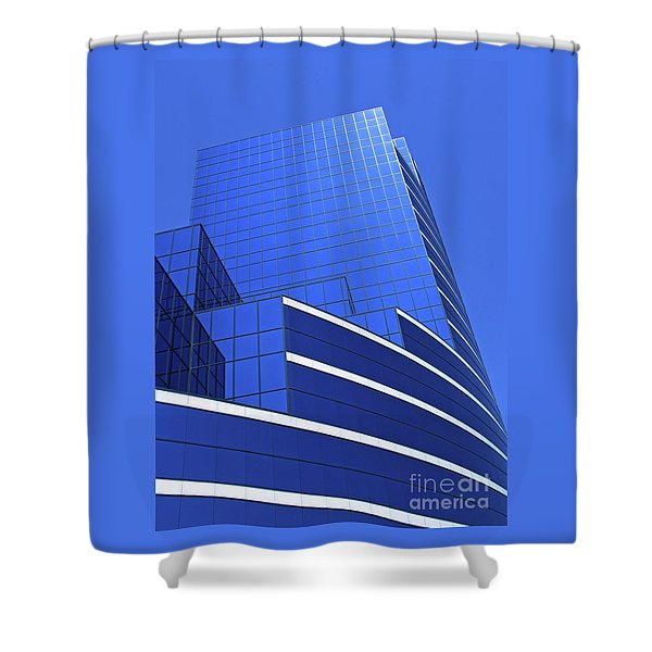 Architectural Blues Shower Curtain