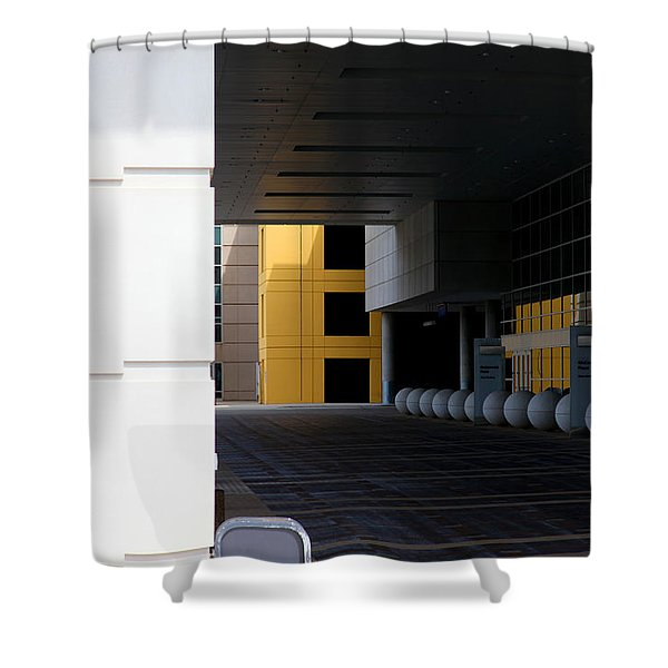 Architectural Pattern Spheres Shower Curtain