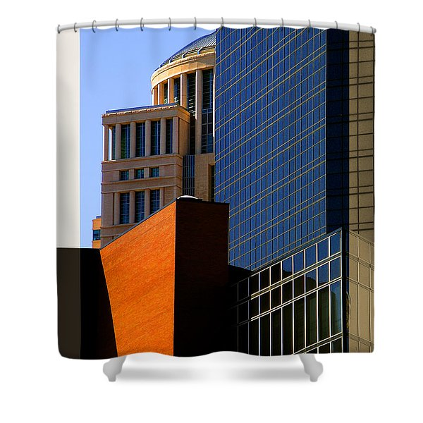 Architectural Stone Steel Glass Shower Curtain