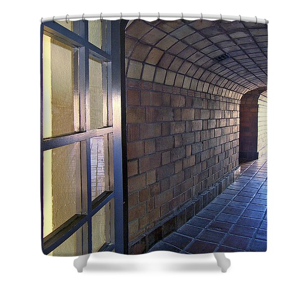Archway In Mission Inn Riverside Shower Curtain