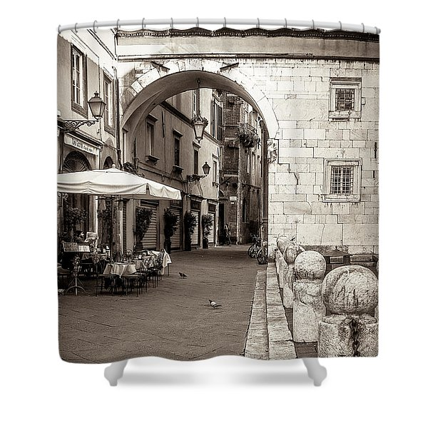 Archway Over Street Shower Curtain