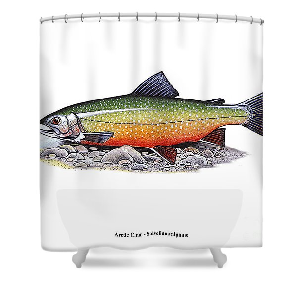 Arctic Char Male Shower Curtain