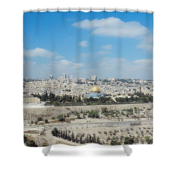 Ariel View Of The Western Wall Shower Curtain