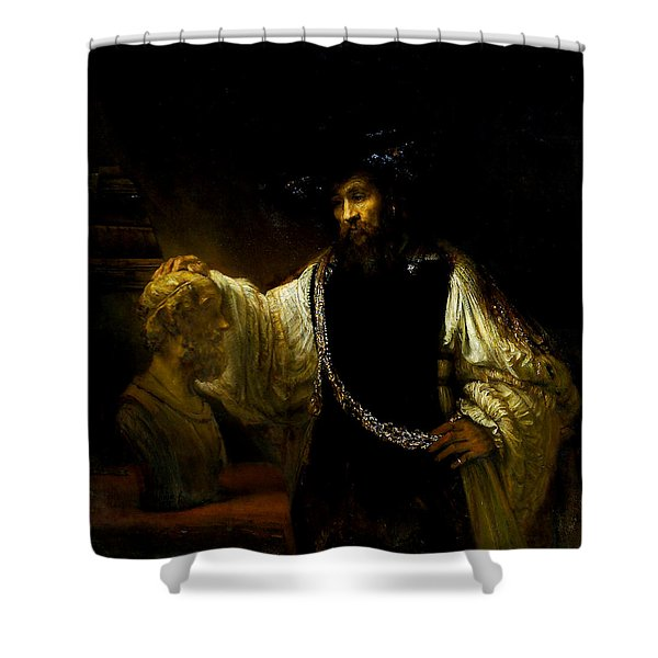 Aristotle Contemplating A Bust Of Homer Shower Curtain