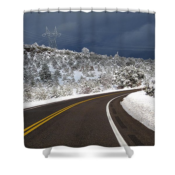 Arizona Snow 2 Shower Curtain
