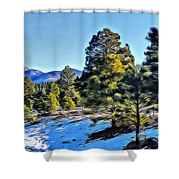 Arizona Winter Shower Curtain
