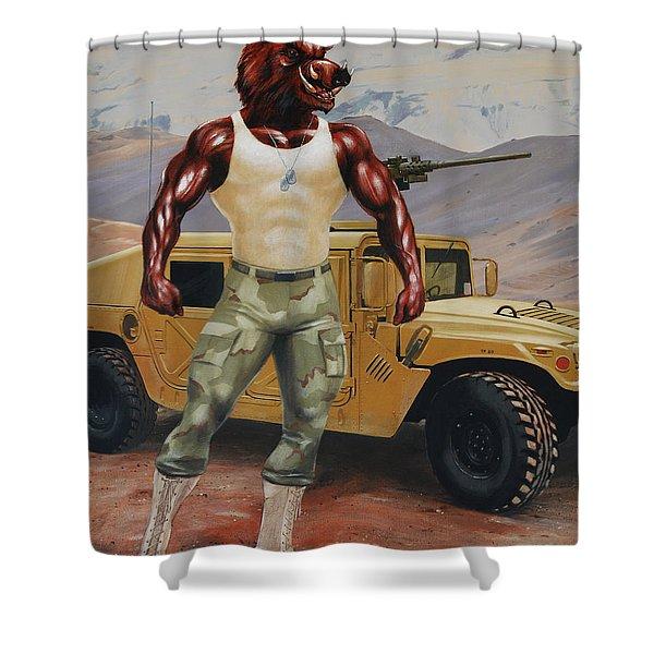 Arkansas Soldier Shower Curtain