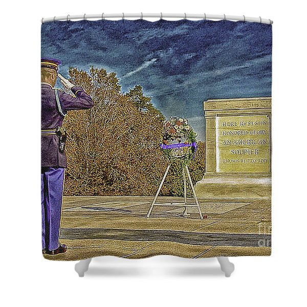 Arlington Cemetery Tomb Of The Unknowns Shower Curtain