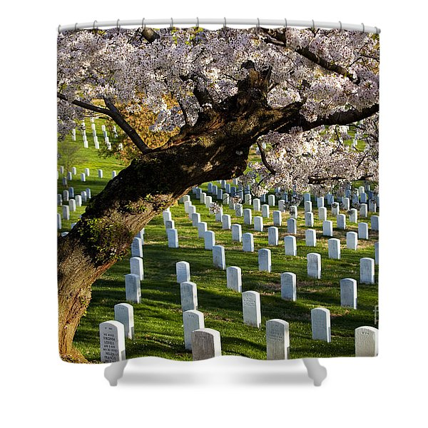 Shower Curtain featuring the photograph Arlington National Cemetary by Brian Jannsen