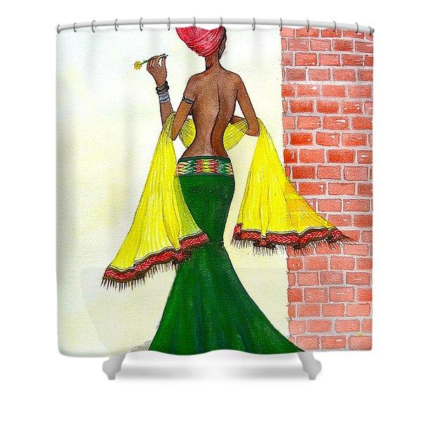 Around The Corner Shower Curtain