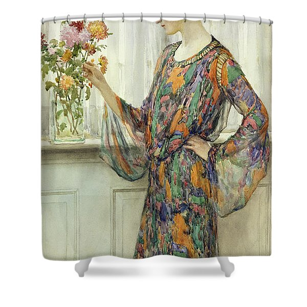 Arranging Flowers Shower Curtain