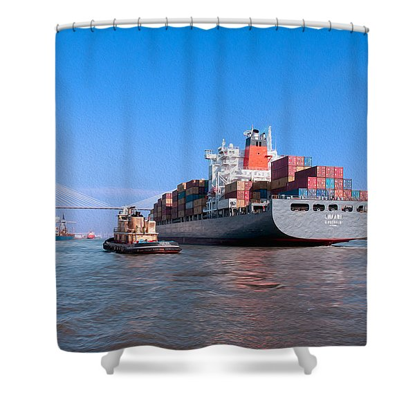 Arrival At Savannah Shower Curtain