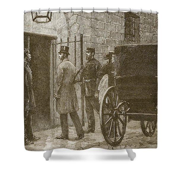 Arrival Of Mr Parnell At Kilmainham Shower Curtain