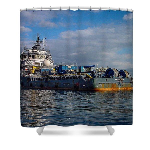 Art Carlson Shower Curtain