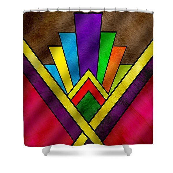 Art Deco Pattern 7v Shower Curtain
