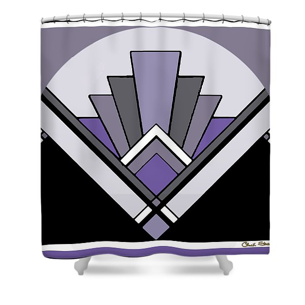 Art Deco Pattern Two - Purple Shower Curtain
