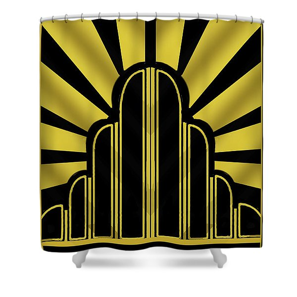 Art Deco Poster - Title Shower Curtain