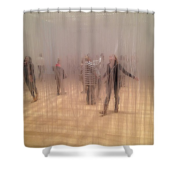 Art Exhibit Shower Curtain
