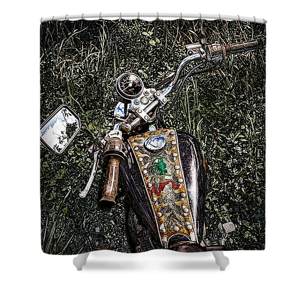 Art In The Weeds Shower Curtain