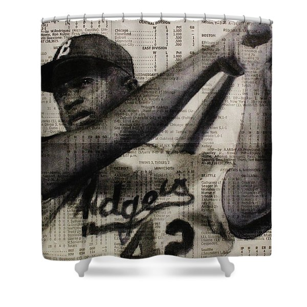 Art In Thenews 16-jackie Shower Curtain
