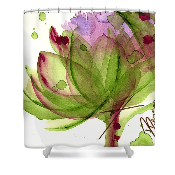 Artichoke Flower Shower Curtain