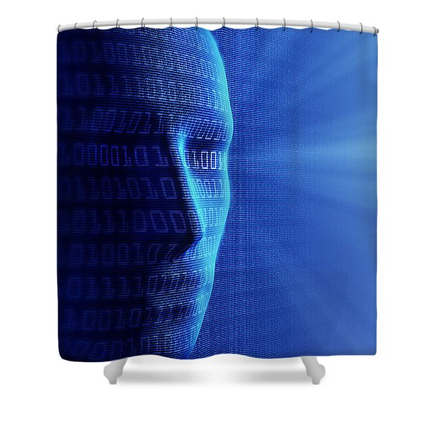 Artificial Intelligence Shower Curtain