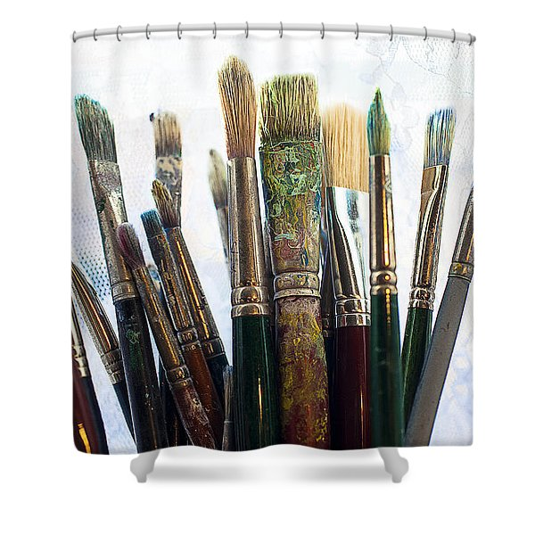 Artist Paintbrushes Shower Curtain