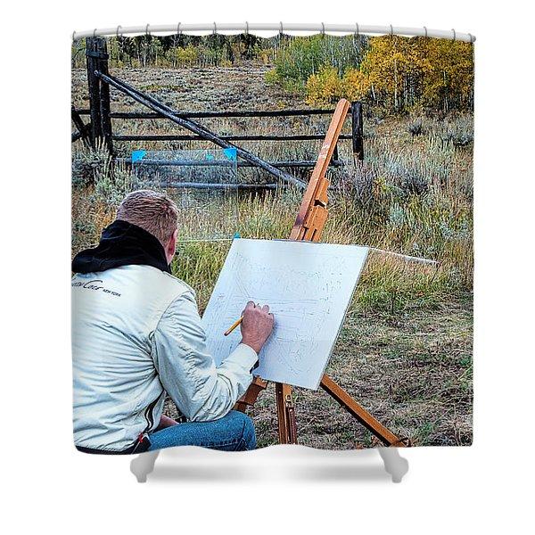 Artist Point Shower Curtain