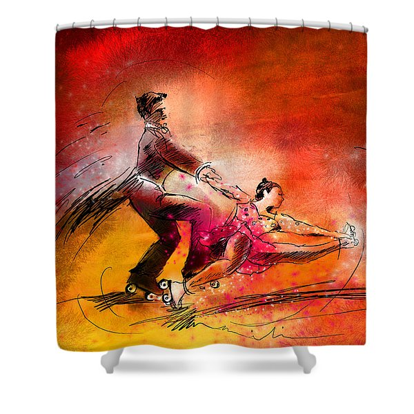 Artistic Roller Skating 02 Shower Curtain