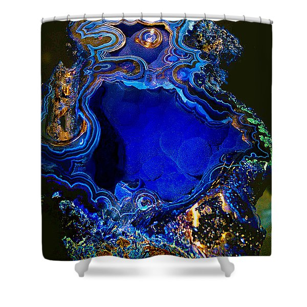 Artists Bisbee Velvet Beauty Azurite Shower Curtain