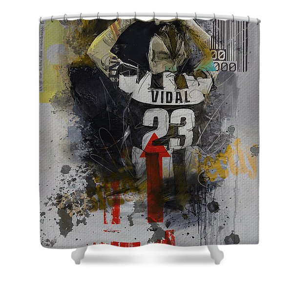 Arturo Vidal - B Shower Curtain