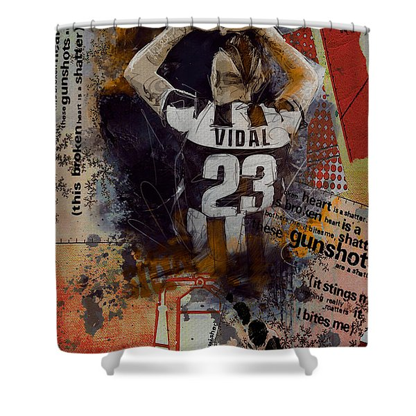 Arturo Vidal - C Shower Curtain