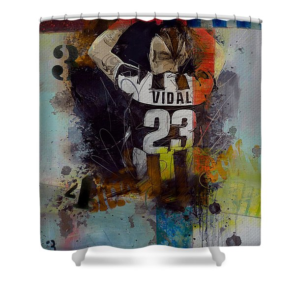 Arturo Vidal - D Shower Curtain