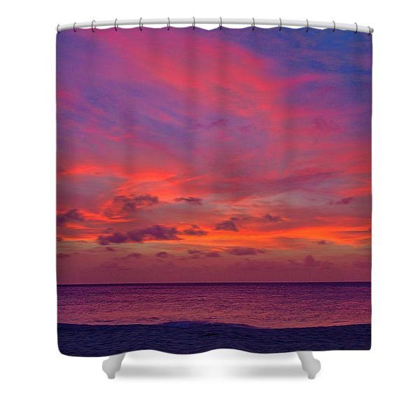Shower Curtain featuring the photograph Aruba Sunset by Jemmy Archer