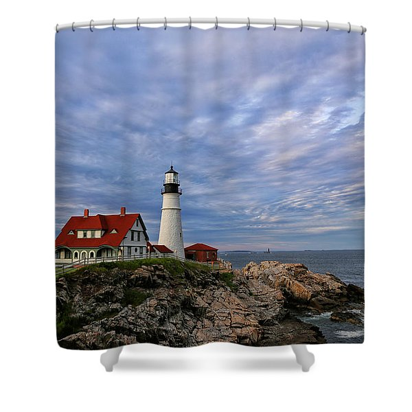 As The Sky Reaches The Water Shower Curtain