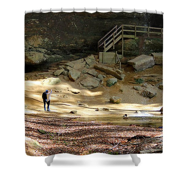 Ash Cave In Hocking Hills Shower Curtain
