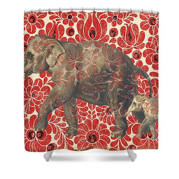 Asian Elephant-jp2185 Shower Curtain