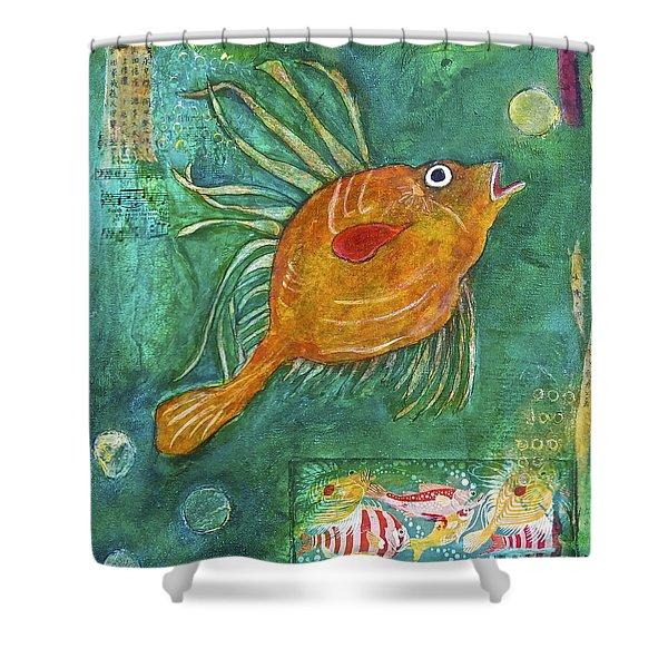 Asian Fish Shower Curtain