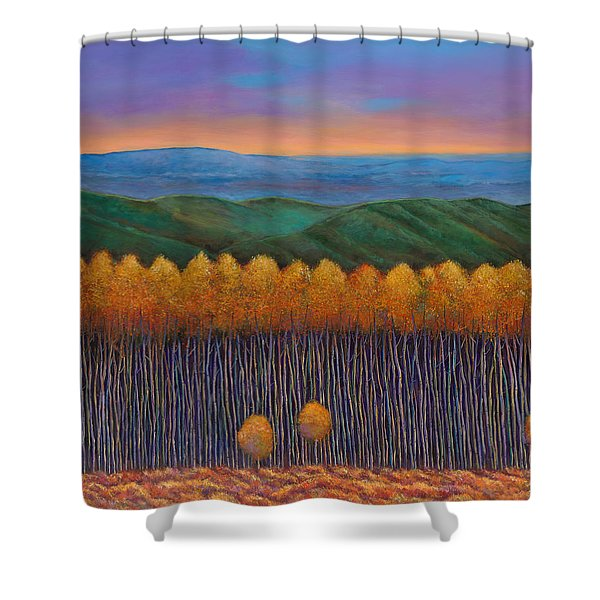 Aspen Perspective Shower Curtain