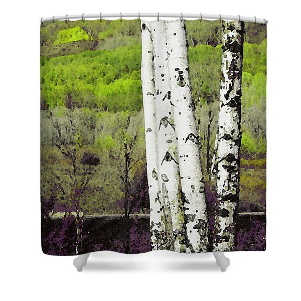 Aspens 4 Shower Curtain