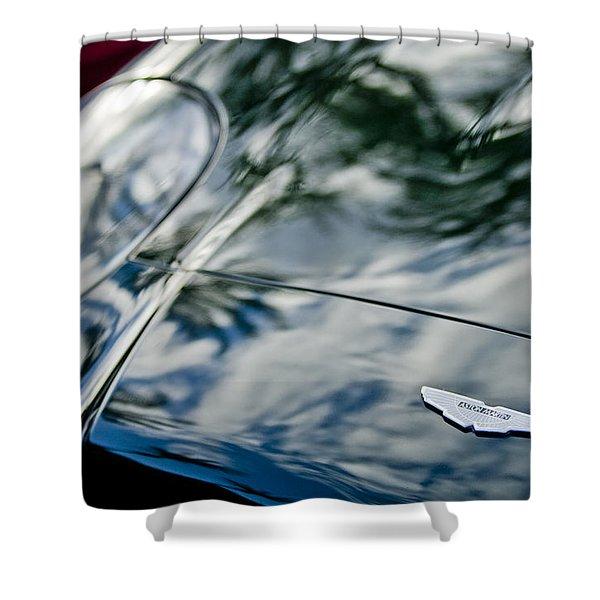 Aston Martin Hood Emblem 4 Shower Curtain