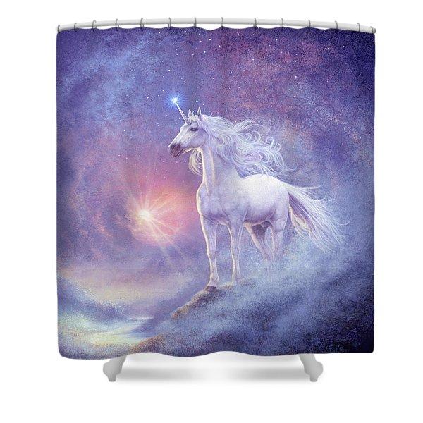 Astral Unicorn Shower Curtain