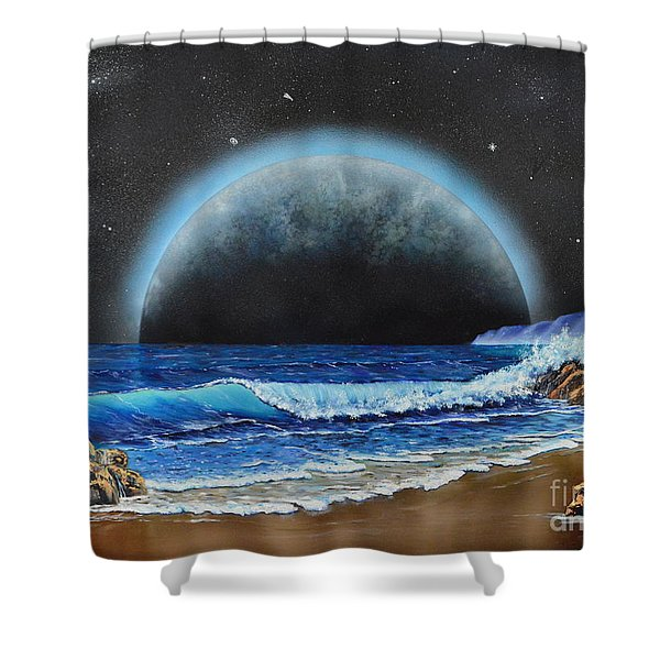 Astronomical Ocean Shower Curtain