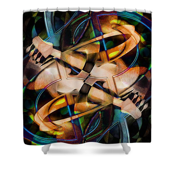 Asturias In G Minor Abstract Shower Curtain