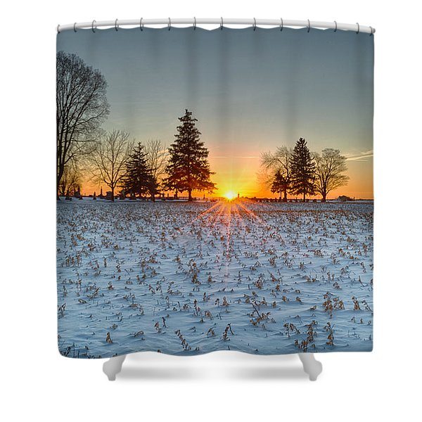 At First Light Shower Curtain