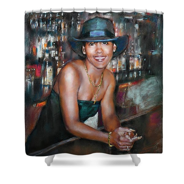 At The Bar Shower Curtain