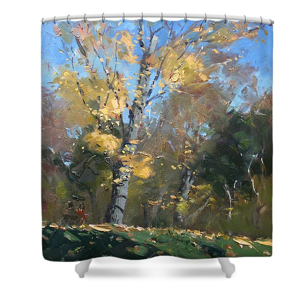 At The Park Shower Curtain