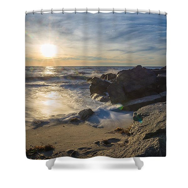 At The Point Shower Curtain