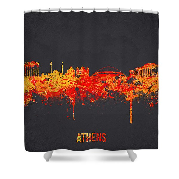 Athens Greece Shower Curtain